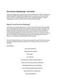 Den Grønne Vækstklynge - kort fortalt - Danske Prydplanter