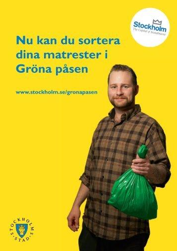 Folder Gröna påsen-försöket - Stockholmshem