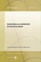 Generaties en solidariteit in woord en daad - Vlaanderen.be