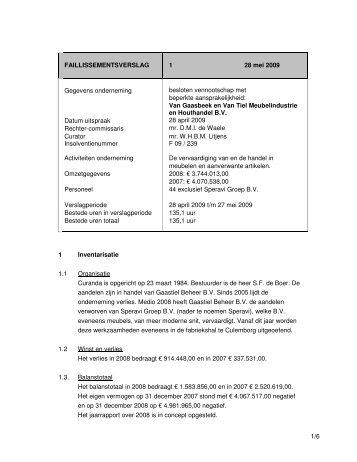 Van Gaasbeek en Van Tiel 1e verslag mei 2009 - Litjens & Wools ...