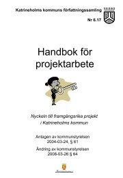 Handbok för projektarbete.pdf - Katrineholms kommun