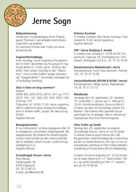 Kirkeblad nr 6 - Jerne kirke og sognehus
