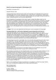 Bekijk de brief naar de Tweede Kamer - Vereniging Eigen Huis