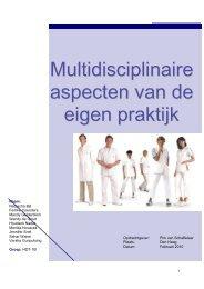 Multidisiplinaire aspecten van de eigen praktijk - Portfoliosite ...