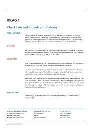 BILAG I Checkliste ved indkøb af rollatorer - Servicestyrelsen