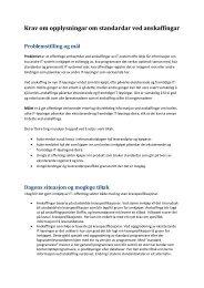 Krav om opplysningar om standardar ved anskaffingar (PDF) - Difi