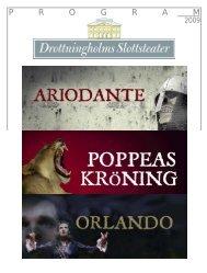 P  R  O  G  R  A  M - Drottningholms Slottsteater