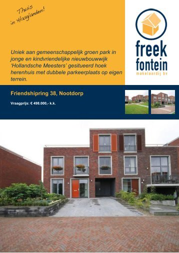 Brochure - Freek Fontein Makelaardij