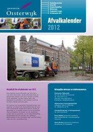 Afvalkalender 2012 - Gemeente Oisterwijk