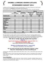nyhedsbrev august 2011 oksbøl & omegns kronvildtlaug