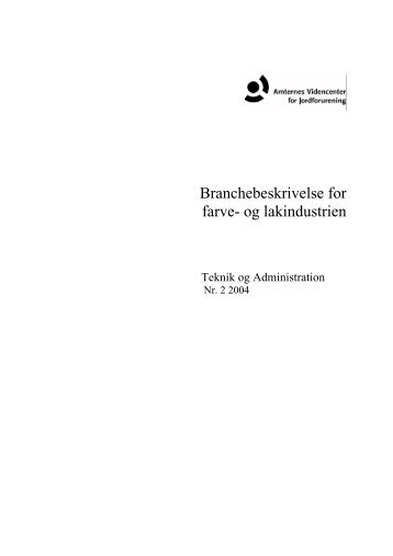 Branchebeskrivelse for - Videncenter for Jordforurening