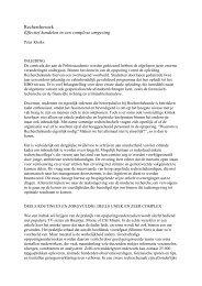 Recherchewerk Effectief handelen in een ... - Politieacademie