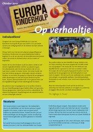 Op Verhaaltje van oktober 2010 - Europa Kinderhulp
