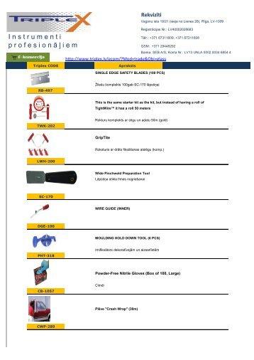 Instrumenti un līme! - Triplex