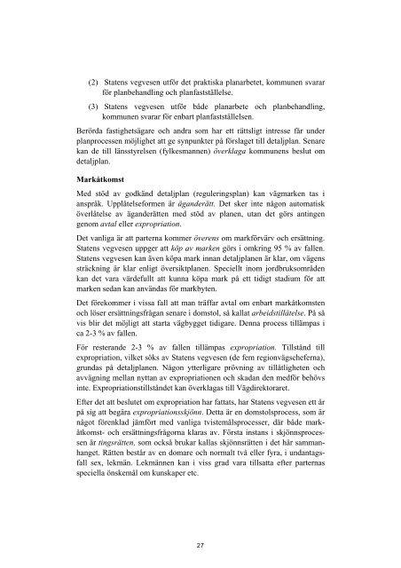 Markåtkomst och ersättning för infrastruktur i Norden - Kort