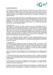 duurzaamheidsverslag 2010-2011 - DGMR
