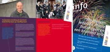 Stapp Info, december 2011. - Re-integratie voor mensen met een ...