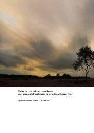 Collectieve arbeidsovereenkomst voor personeel werkzaam in de ...
