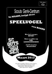 speelvogel maart 2012 - Scouts Genk Centrum