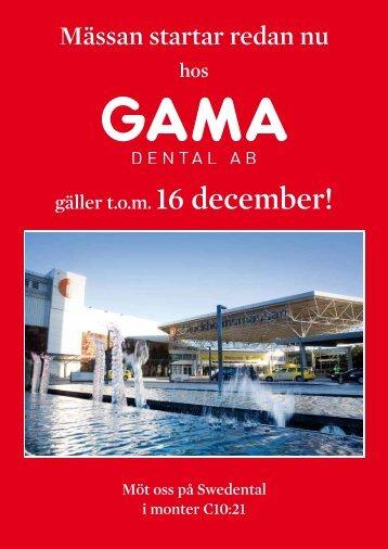 Mässan startar redan nu - GAMA Dental