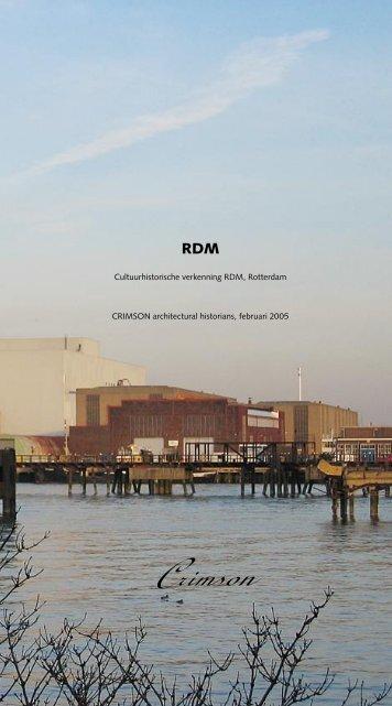 Cultuurhistorische verkenning RDM - CRIMSON architectural ...