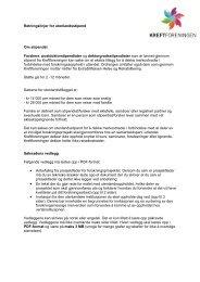Retningslinjer for utenlandsstipend Om stipendet ... - Kreftforeningen