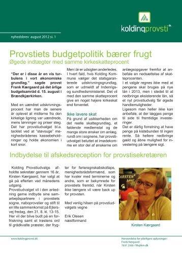 Provstiets budgetpolitik bærer frugt - Kolding Provsti
