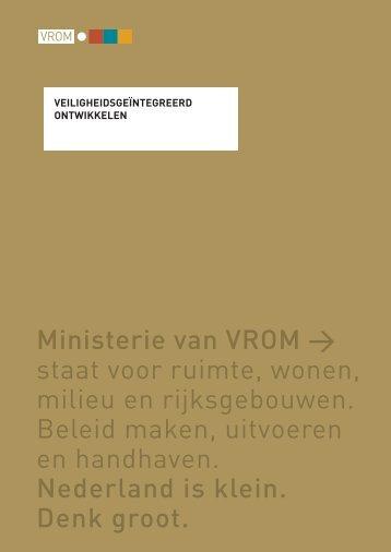 Ministerie van VROM > staat voor ruimte, wonen, milieu en ...