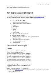 last ned pdf - Karl Ove Knausgård bibliografi