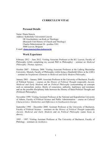 curriculum vitae personal details thomas schramme born 6th