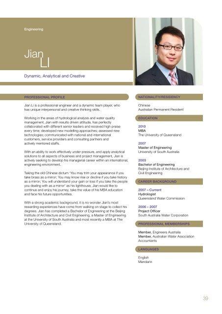 2010 MBA Yearbook - UQ Business School - University of Queensland