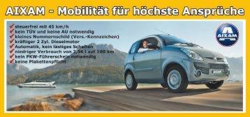 Flyer Aixam - Auto Kriegbaum