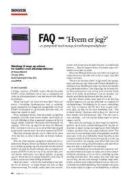 FAQ: 'Hvem er jeg?' - et spørgsmål med mange fortolkninger - Stof