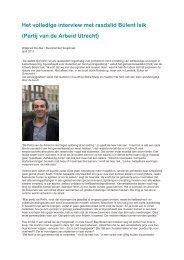 Het volledige interview met raadslid Bülent Isik - Buurtcomité ...