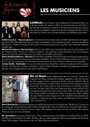 d'informations sur les artistes participants à l'opération - L&A Music