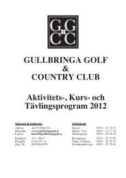 GGCC Programblad 2012 - Gullbringa Golf & Country Club