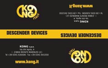 DESCENDER DEVICES DESCENDER DEVICES - Kong