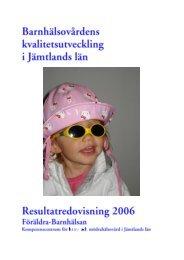 Barnhälsovårdens - Jämtlands läns landsting