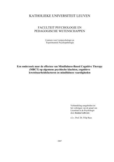 thesis pedagogische wetenschappen kul