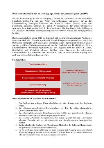 Philosophie - Lehramt - Universität Mannheim