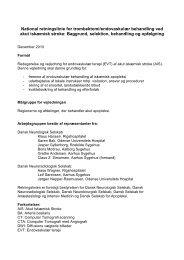 National retningslinie for trombektomi/endovaskulær behandling ...