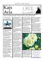 JOURNALIST - Kajs Avis