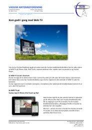 VADUM ANTENNEFORENING Kom godt i gang med Web TV
