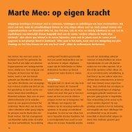 Marte Meo: op eigen kracht - Zorggroep Groningen