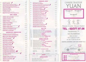 TEL: 02/377.97.06 - Yuan Traiteur