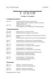 Vorlesungsplan - Prof. Dr. Michael Kloepfer