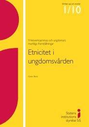 Etnicitet i ungdomsvården - Statens Institutionsstyrelse