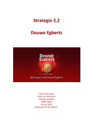 Strategie 2.2 Douwe Egberts