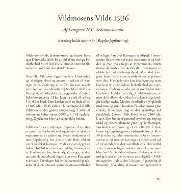 Vildmosens Vildt 1936