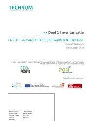 State-of-the Art en Inventarisatie - POM West-Vlaanderen